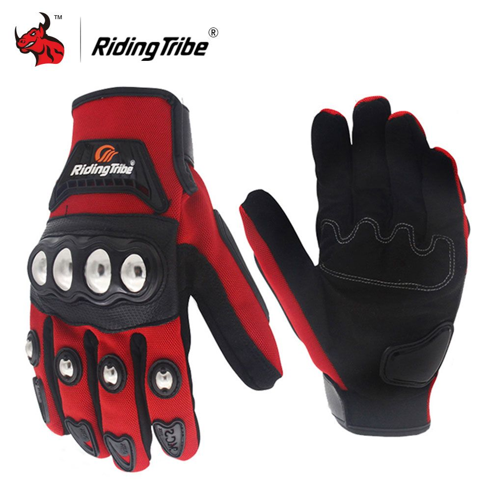 Riding Tribe Motorcycle Gloves Stainless Steel Shell Touch Screen Riding Motorbike Gloves Guantes Moto Luvas Gants Moto Gloves