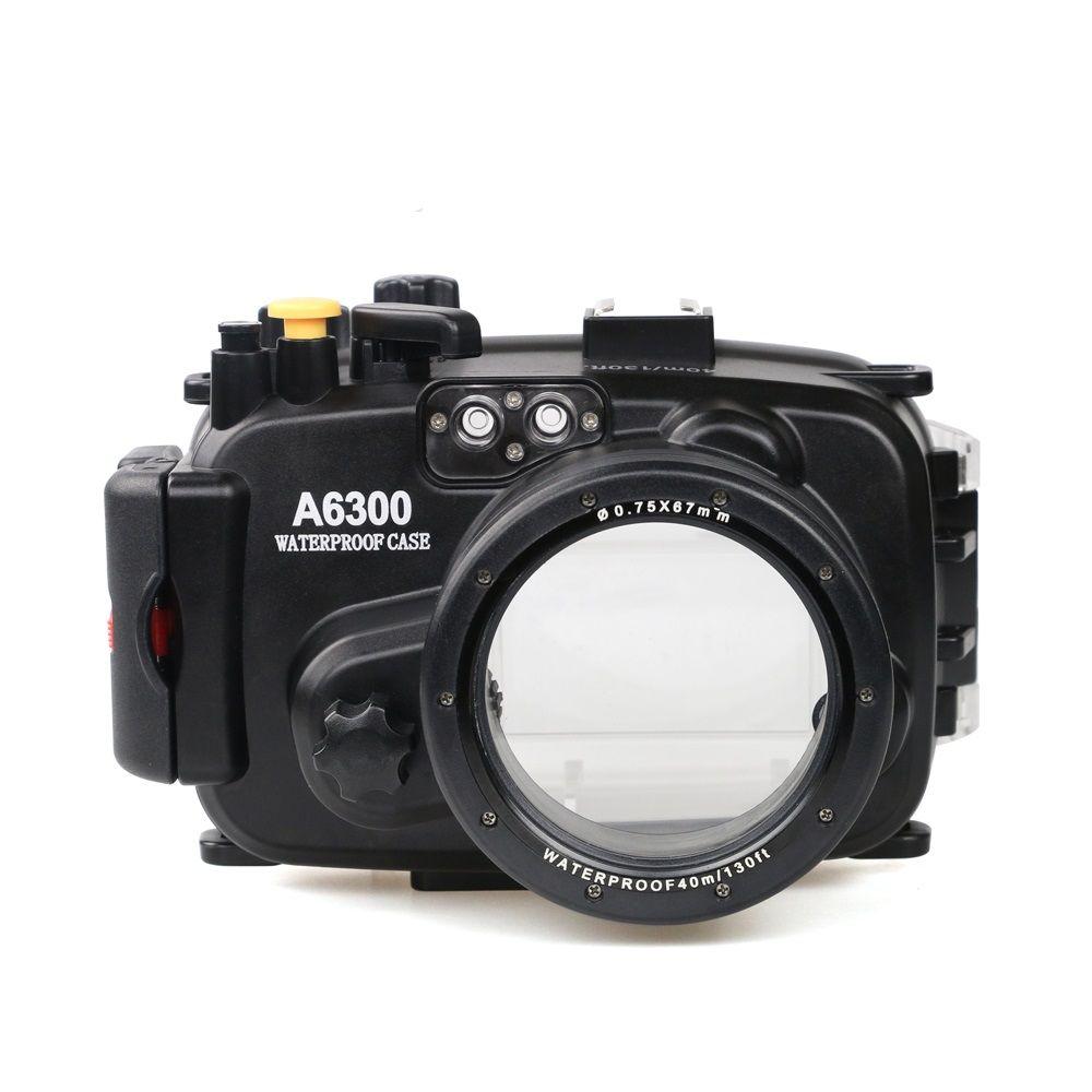 Pour Sony A6300 avec équipement de sonnerie d'alarme précis Meikon 40 m/130ft boîtier de plongée étanche sous-marine