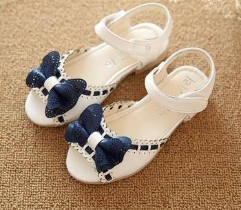 Girl Open Toe Sandals 2019 New Children's Sandals Summer Kids Sandals Cute Butter Tie Design Princess Shoes Girl Shoes