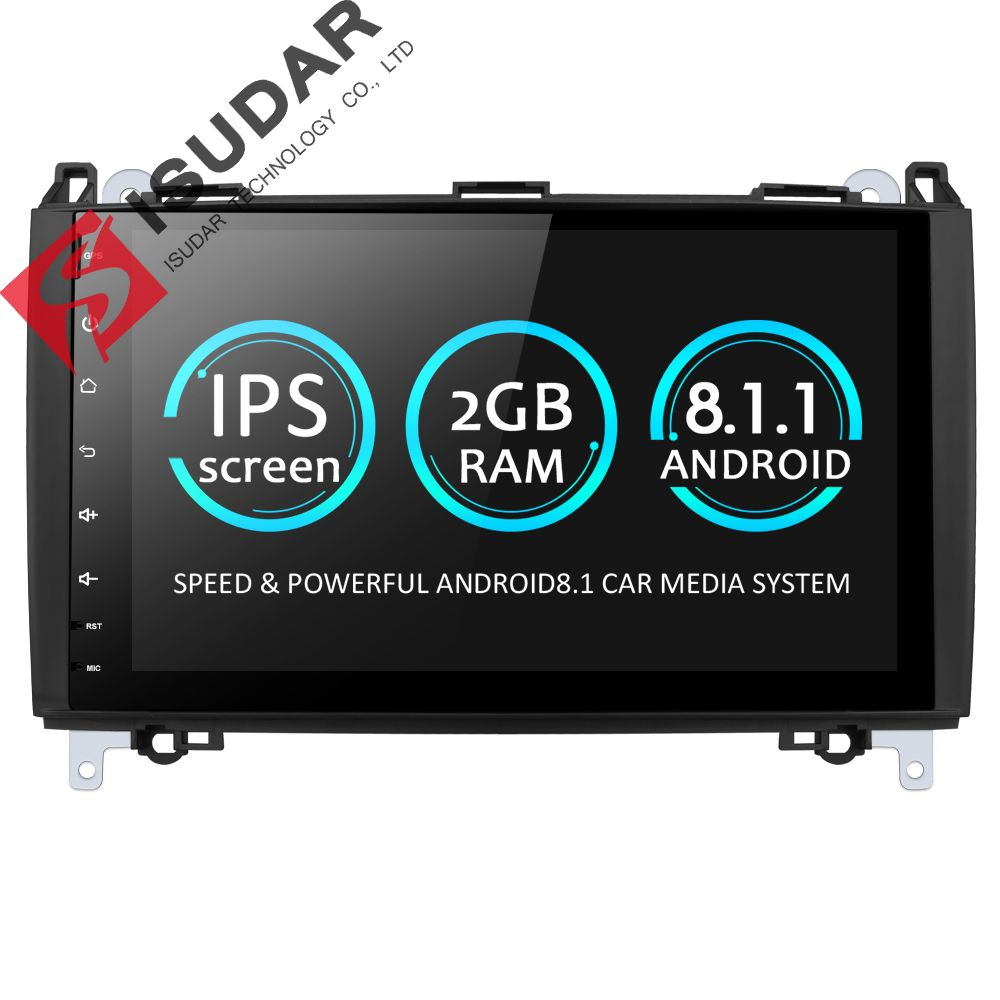 Isudar Car Multimedia Player GPS Android 8.1 2 Din DVD Automotivo For Mercedes/Benz/Sprinter/Viano/Vito/B-class/B200/B180 Radio