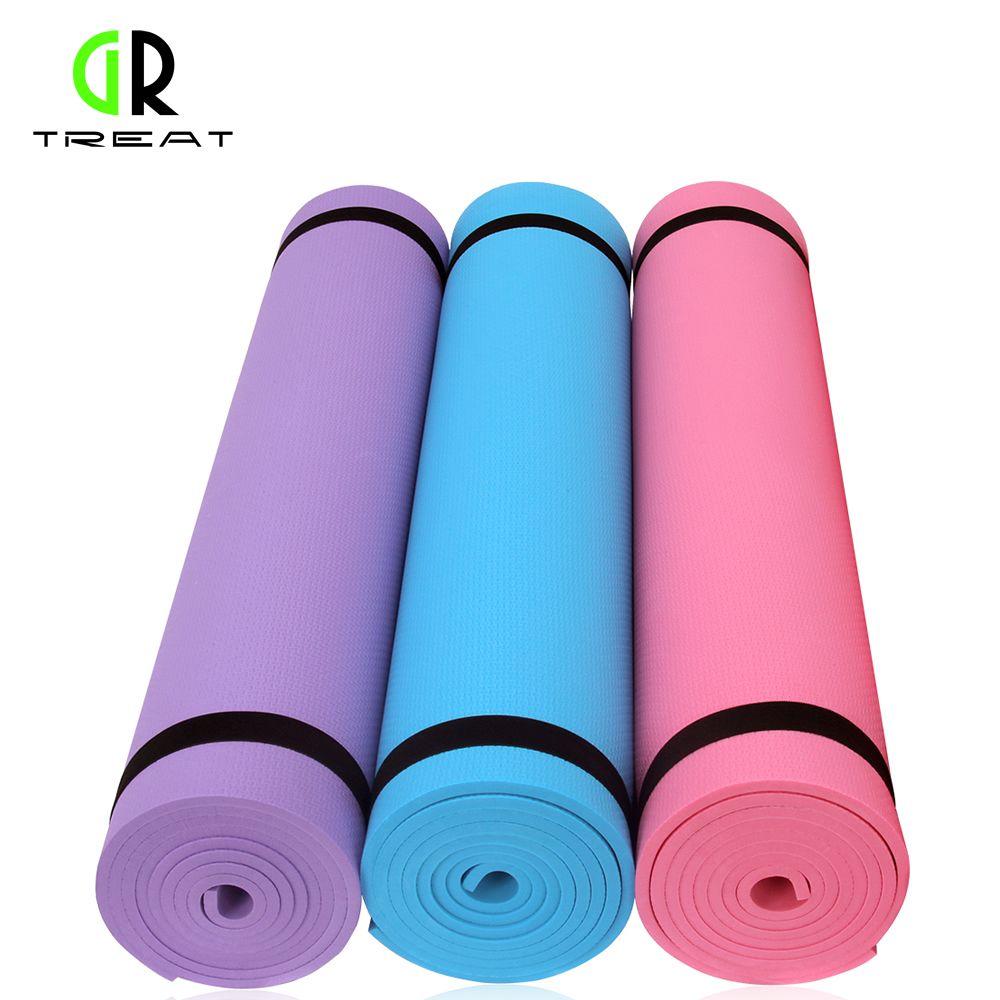GR Behandeln Yoga Matte Non-slip Yoga Matte 6mm Yoga Kissen Fitness Matte Yoga