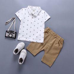 BibiCola Garçons Vêtements Bébé Ensembles Été Garçons Vêtements Costume Gentleman Style Polo Shirt + Pantalon 2 pcs Vêtements pour Garçons été Ensemble