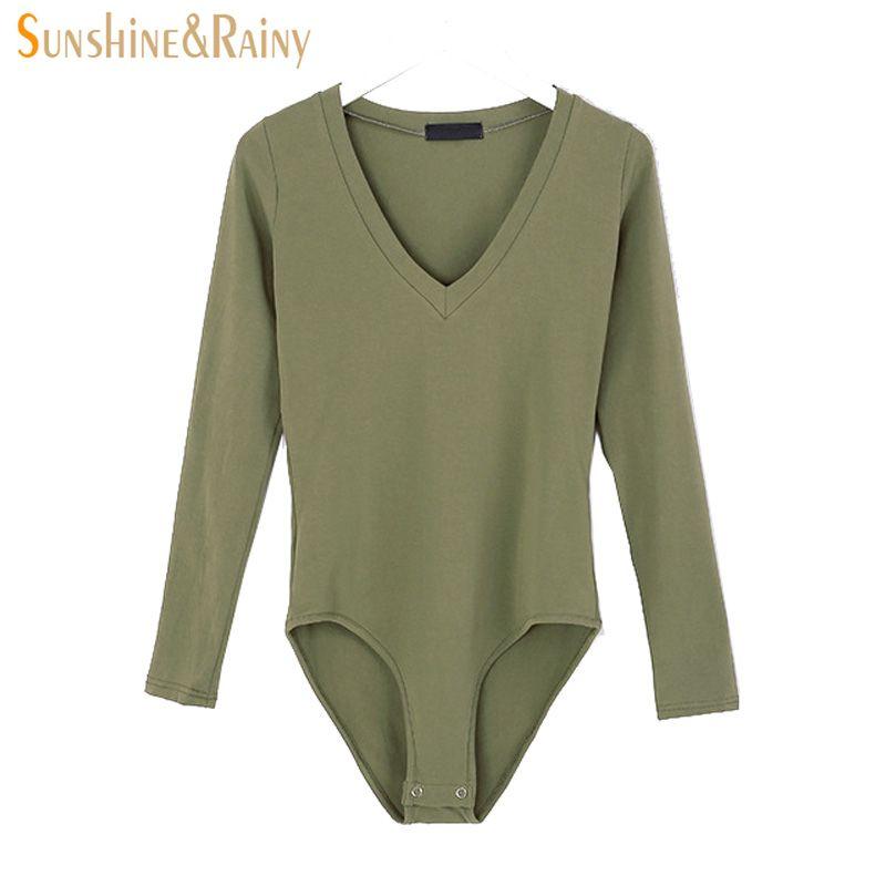 На осень-зиму Для женщин одноцветное Боди V-вырез горловины женские свободные футболки с длинным рукавом рубашка пикантные женские милые од...