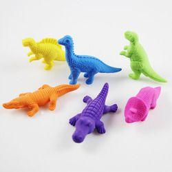 3 unids dinosaurio Gomme cocodrilo Gomas de borrar kawaii gomas de borrar papelaria criativa silgi radiergummi material escolar infantil