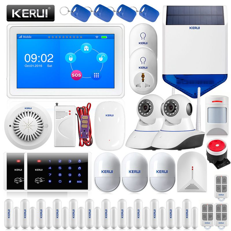 KERUI K7 Farbe Display Touch Screen WiFi GSM Mehrere Muster Einbrecher Home Security Alarm System Home Schutz Kit