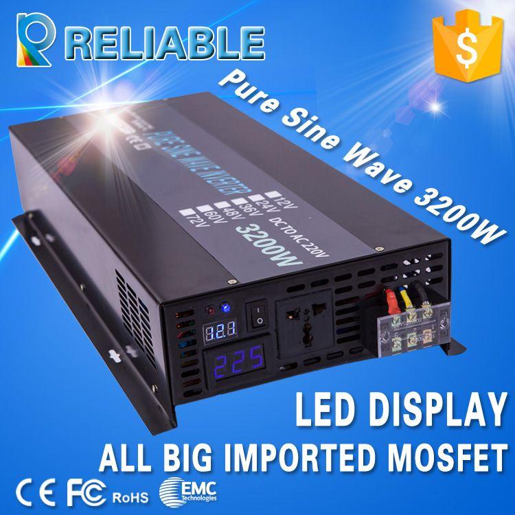 Off Grid Pure Sine Wave Power Inverter 24V 220V 3200W Solar Panel Inverters Converters 12V/36V/48V/96V DC to 120V/230V/240V AC