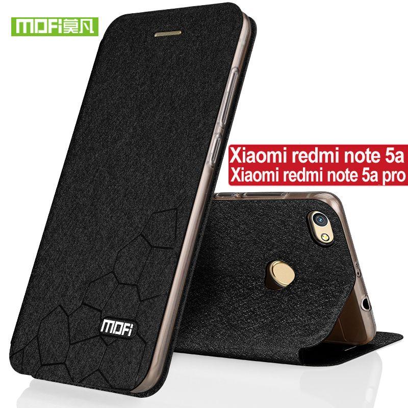 Para caso de la cubierta de silicona de lujo del tirón Mofi Xiaomi Redmi Nota 5a Xiaomi Redmi Nota 5a pro caso TPU xiaomi redmi nota 5a cuero
