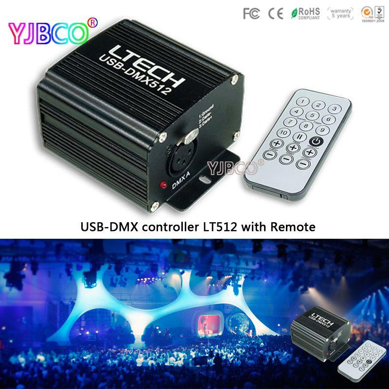 LT512 USB-DMX Master controller DC5V Internal memory 120 steps;Mini USB Connection 512 Channel Master controller&IR remote