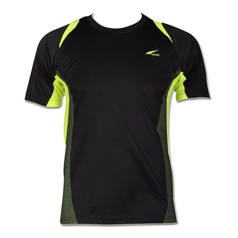 Nouveauté 2019 hommes Designer T Shirt décontracté séchage rapide Slim Fit dessus de chemise et t-shirts taille S M L XL LSL601 (veuillez choisir la taille USA)