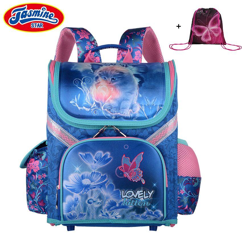JASMINESTAR Children's Backpack Grade 1-3-6 New Boys School Bags Orthopedic Satchel Cartoon School Backpack For Girls Schoolbag