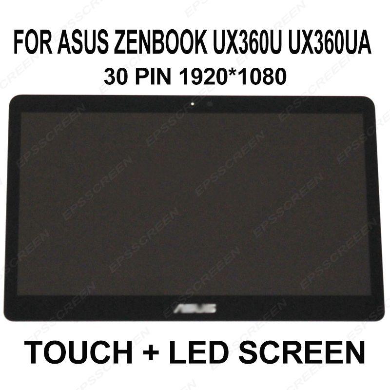 for Asus Zenbook UX360U UX360UA LCD Screen+Touch Digitizer Assembly FHD 1920x1080 panel laptop screen B133HAN02.7 30 PIN EDP