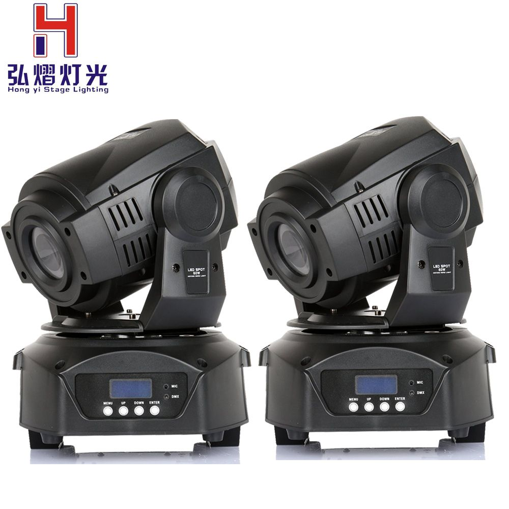 (2 pieces/lot) moving head led spot 90W LED Moving Head Light Professional DJ Stage Party Disco Lights