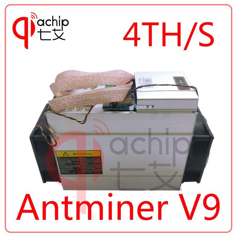 Neue AntMiner V9 4 T./s Bitcoin Miner Asic Miner Btc Bergmann Bitcoin Besser als AntMiner S9 WhatsMiner M3 T9 + E9