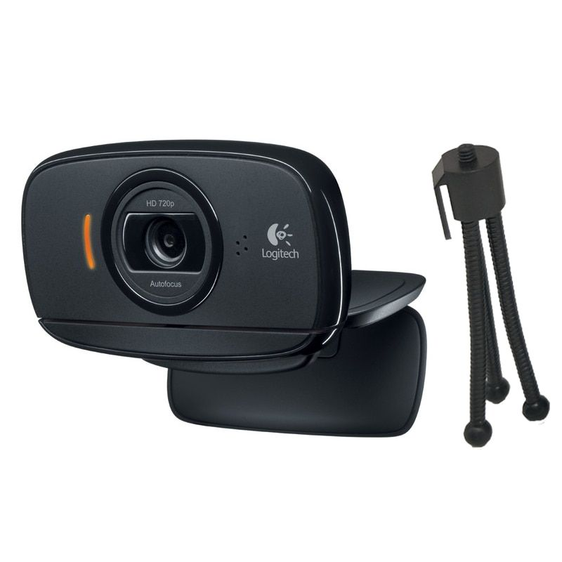 Logitech HD Webcam C525, Portable HD 720p Video Calling with Autofocus 1280x720 webcam Free bracket