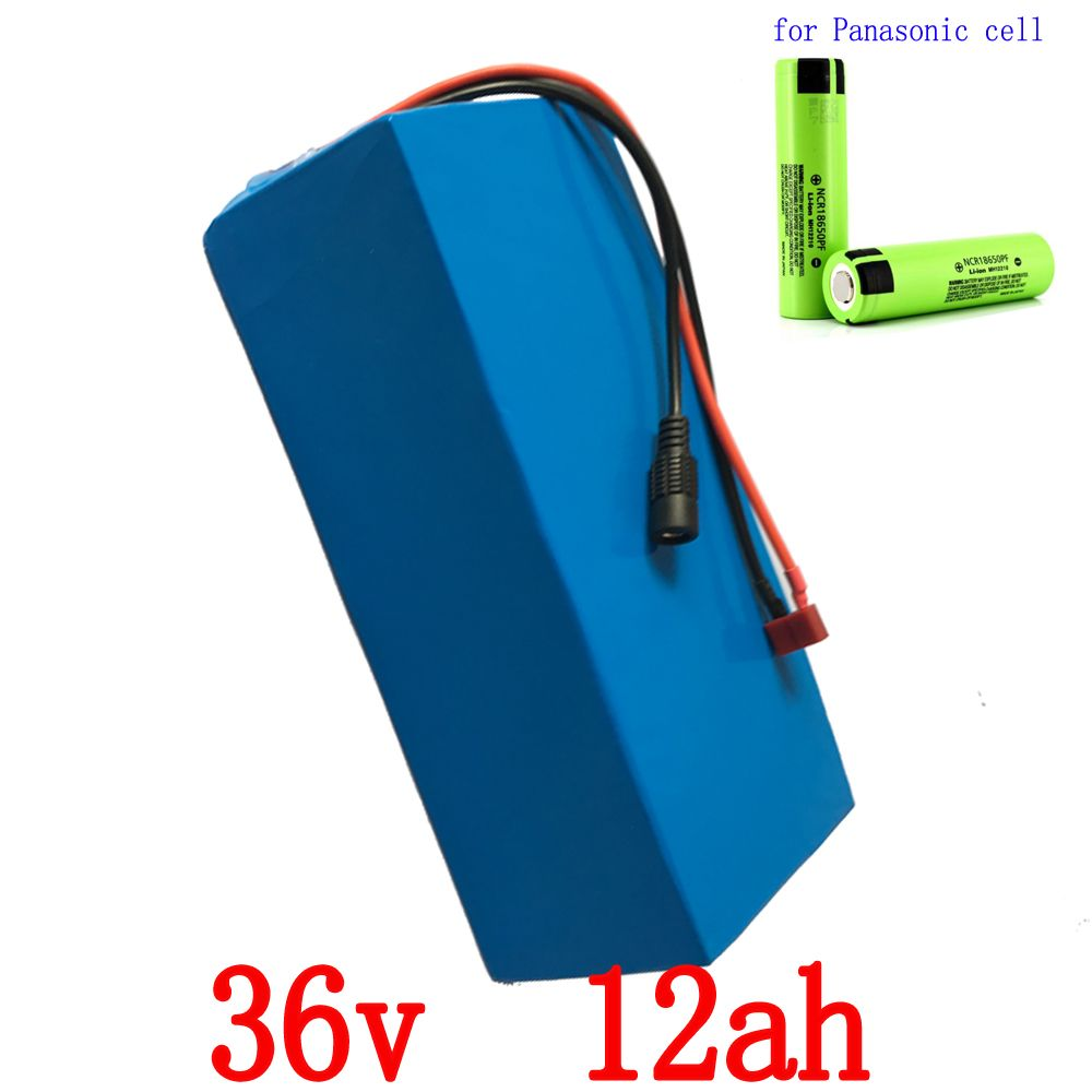 36V Electric Bike battery 36V 12AH 500W use for Panasonic cell Lithium Battery E-bike battery with 15A BMS and 2A charger
