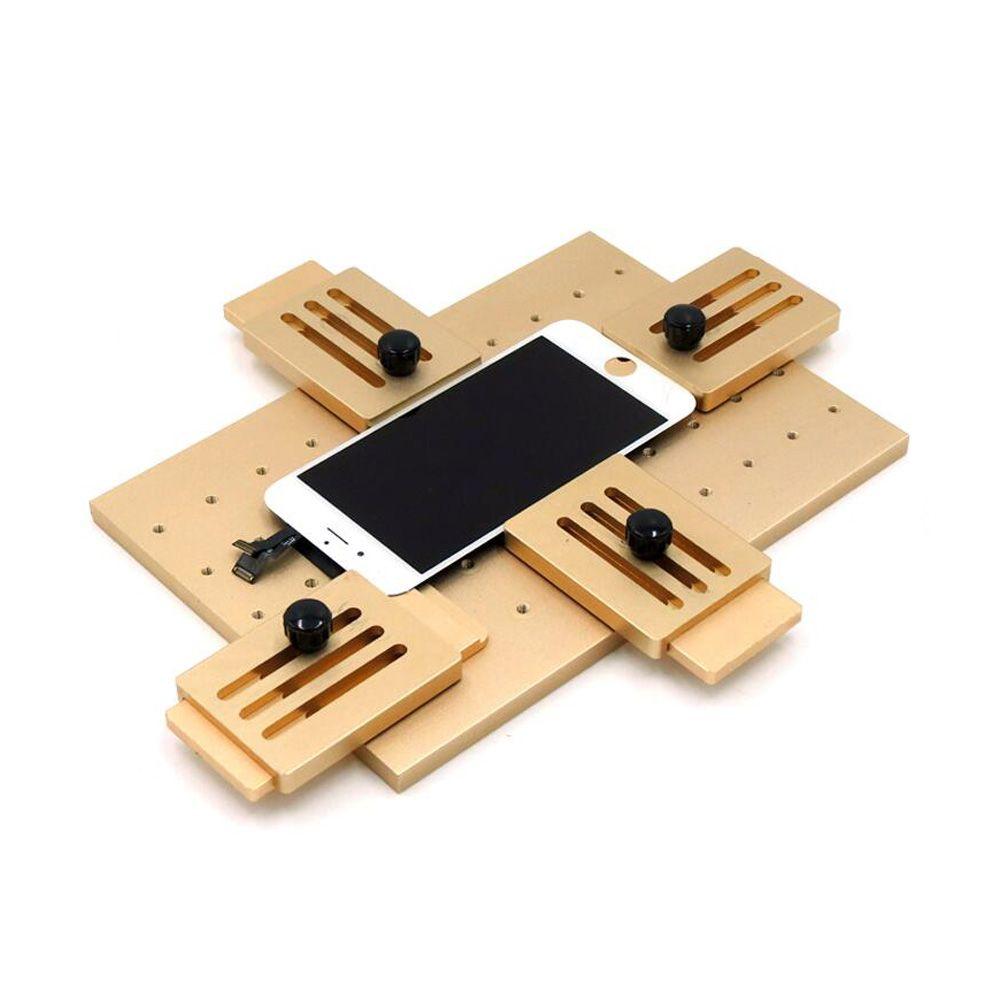 Aluminiumlegierung Universelle Telefon LCD OCA Laminat Feste Form Ersetzen LCD Uv-kleber Form Form Glas Halter Für IPhone Samsung