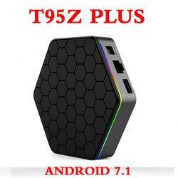Asli T95Z Plus Android 7.1 TV Box Amlogic S912 4 K Set Top Box Delapan Inti 2 GB/3 GB 16 GB/32 GB Dual WIFI T95Z Smart Media Player