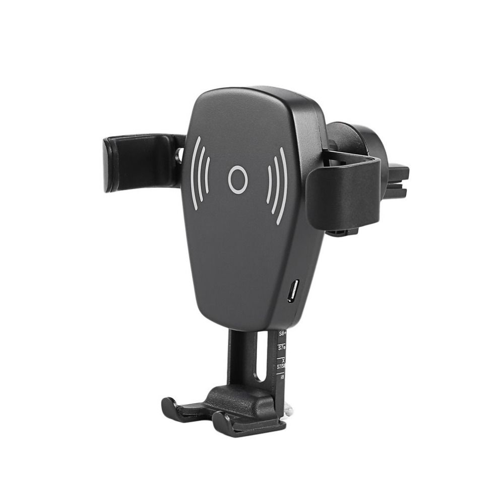 Auto Air Vent Phone Mount Holder Stand with Wireless Car Charger 10W Gravity Linkage Fast Charge for Mobile Phone Car-styling