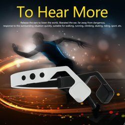 SIFREE Wireless Bone Conduction Headphones Bluetooth 4.1 Headset Earphone Stereo Music Mic Hearing Aids Ear Release for sport