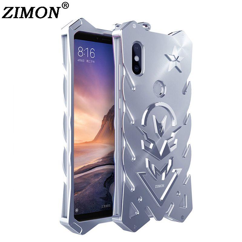 6.9'' for Xiaomi Mi Max 3 Case for Xiaomi Mi Max3 Shell Metal Body Cover ZIMON Quality Aluminum Back Cover Mobile Phone Cases