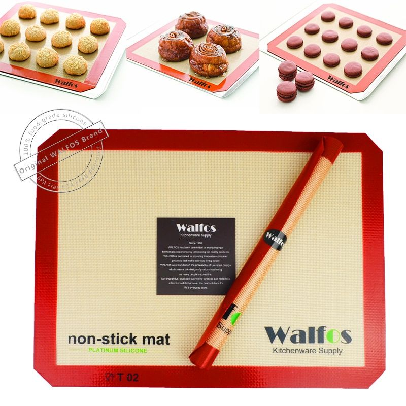 Tapis de cuisson en Silicone antiadhésif de marque WALFOS tapis de cuisson antiadhésif revêtement de cuisson pour biscuits tapis de pâtisserie outil de cuisine pour ustensiles de cuisson