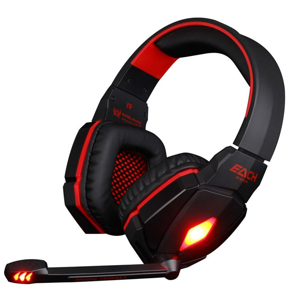 EACH G4000 Pro USB 3.5mm Gaming headphone With Microphone Stereo <font><b>Bass</b></font> Gamer Headsets LED Lights For PC Computer Laptop Game