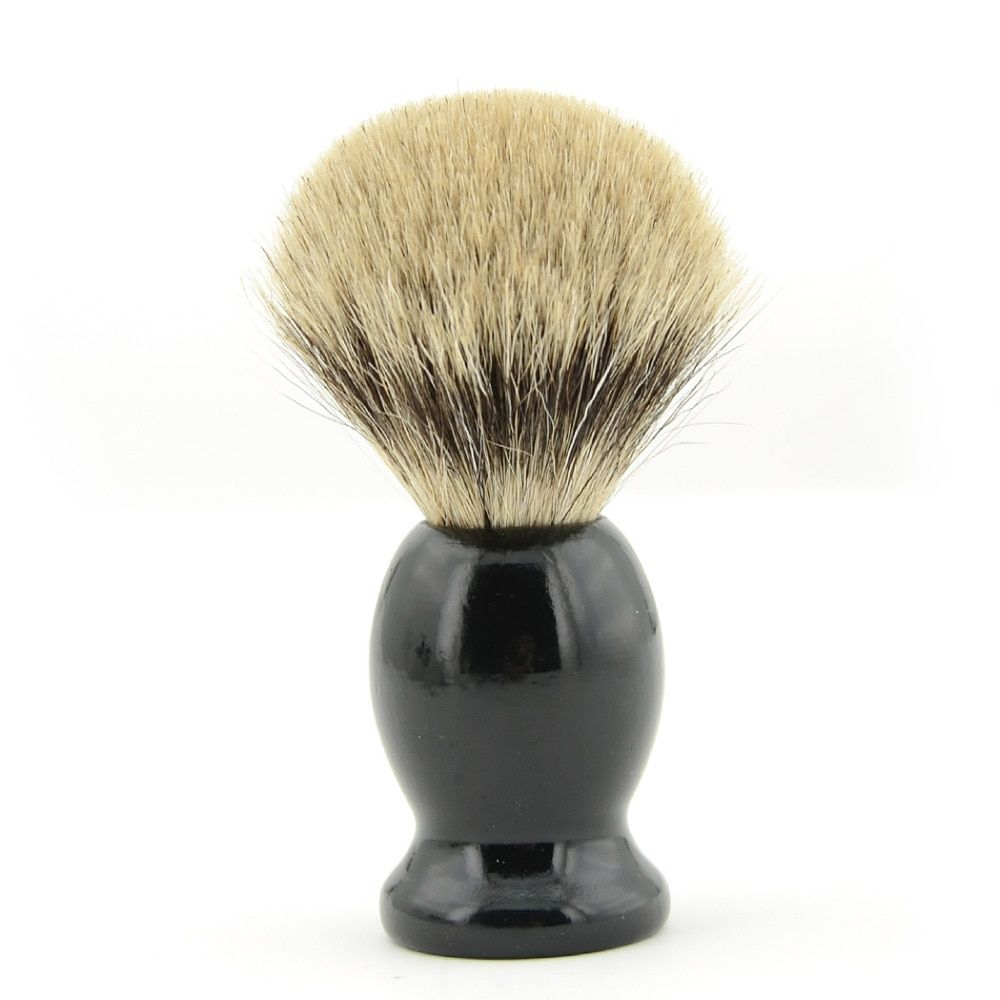 ZY Men Best Pure Badger Hair Shaving Brush Wood Handle Shave Beard Face Cleaning Tool