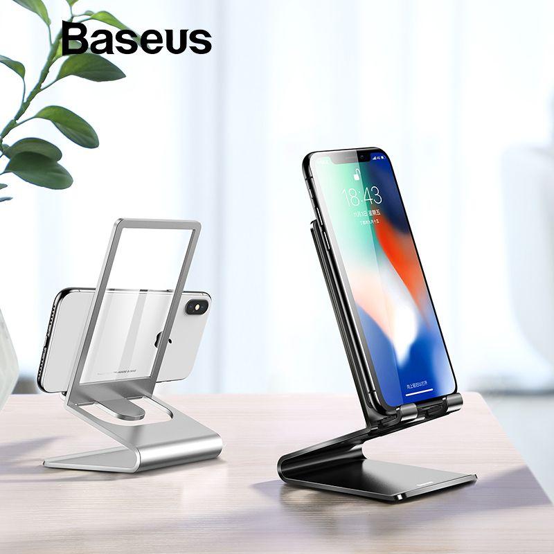 Baseus Metall Telefon Halter Stehen für Büro Schreibtisch Desktop Telefon Stehen für iPhone XR 8 iPad Xiaomi Tablet Handy halter Stehen