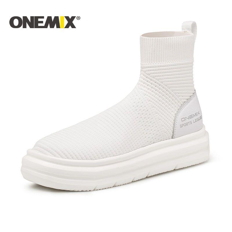 2018 Onemix NEUE socke knöchel stiefel für frauen höhe zunehmende wanderschuhe männer im freien trekking männer laufschuhe freies verschiffen