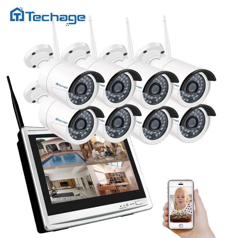 Techage 8CH 960 P Wireless NVR Wifi CCTV-System 12