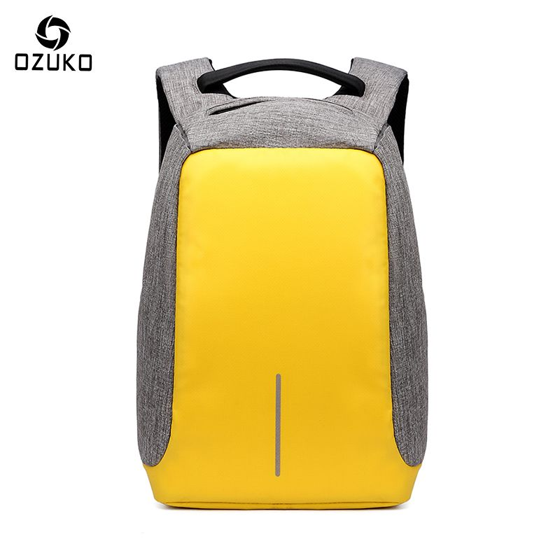 OZUKO New Style City Antitheft Men's Backpacks Fashion ideas USB Charge Computer Backpack Casual Laptop Rucksack School Bag 2017