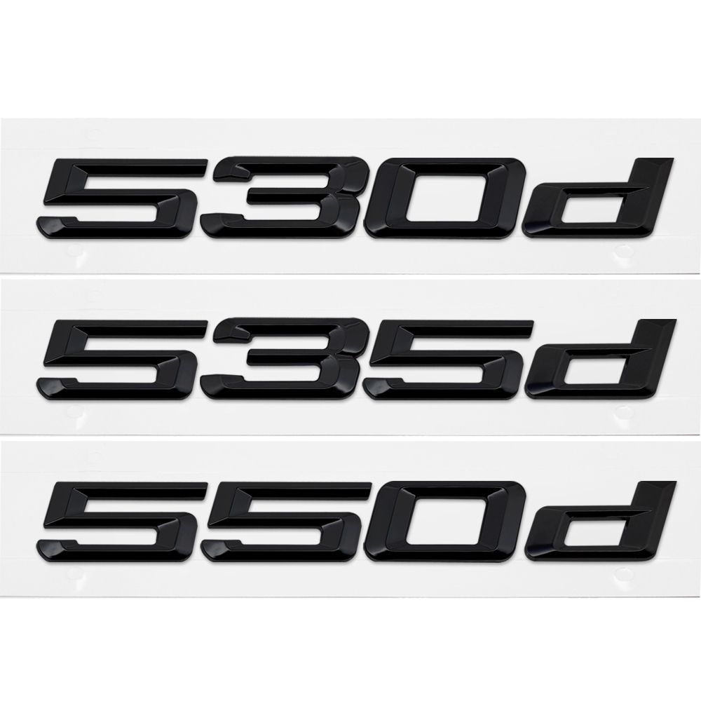 Auto Aufkleber Für BMW 530d 535d 550d 5 Serie E36 E38 E60 E90 E50 Z3 Z4 M5 G30 X5 Hinten aufkleber Emblem Anzahl Buchstaben Auto Styling