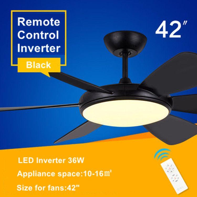 LED decke fan lampe Restaurant wohnzimmer fan licht elektrische lüfter haushalt fan kronleuchter Fernbedienung Ventilador