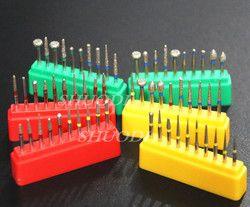 10 unidades dentales de alta velocidad de diamante pulido Preparación de dientes equipo dental