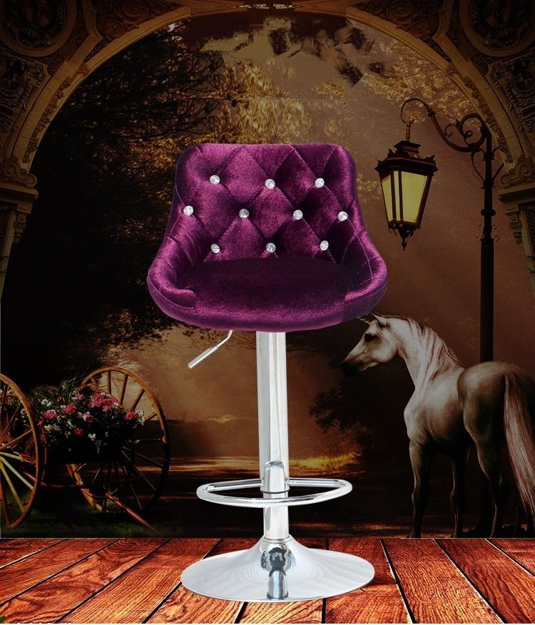 hair salon furniture shop chair Hairdressing black coffee lift stool free shipping rose red design computer chair