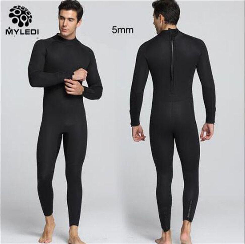 MYLEGEND 5MM Men Neoprene Spearfishing Wet Suit Surf Diving Equipment Scuba Snokling Bathing Sailing Jumpsuit Full Body Beach