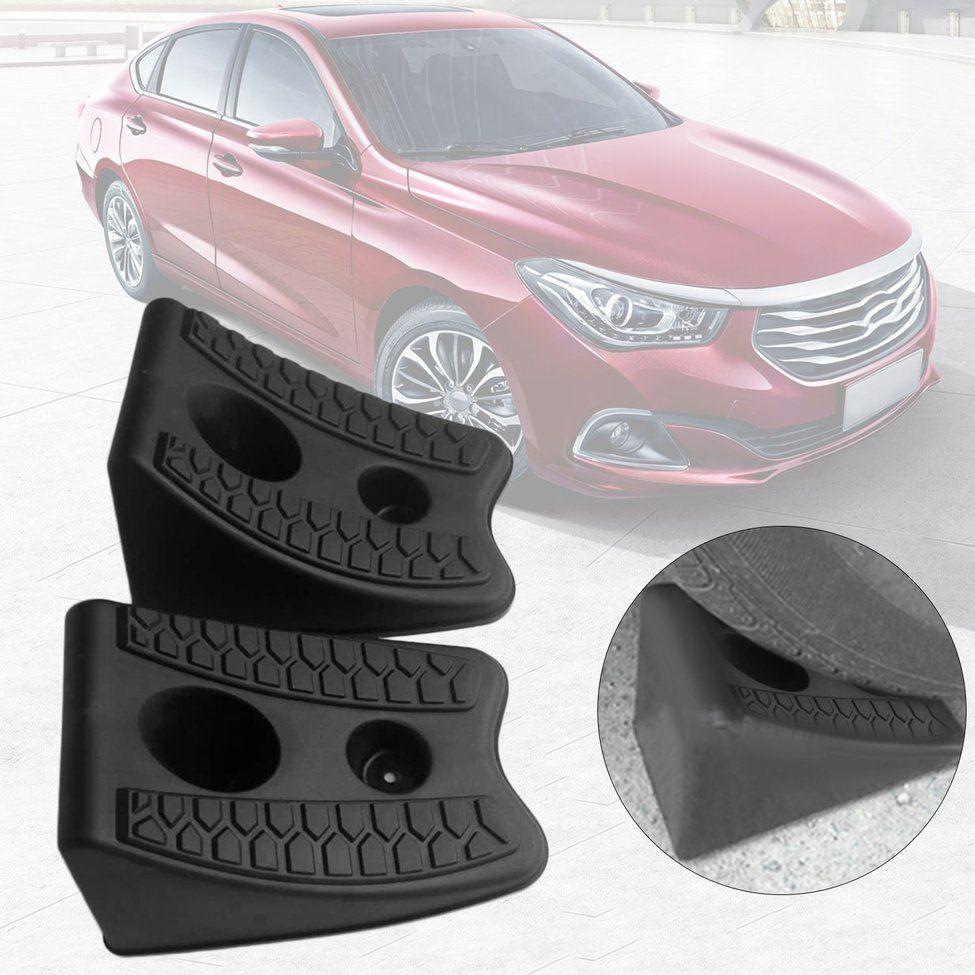 2pcs/set New Automobiles Anti-slip Block Rubber Car Tyre Slip Stopper Control Wheel Alignment Block Tire Support Pad Hot