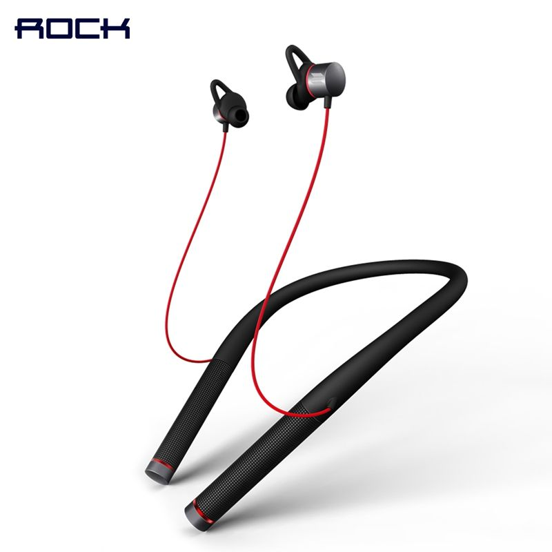 Mudo Neckband Bluetooth Headphone, ROCK Space Series Vluetooth 4.1 Version Magnetic Neckband Bluetooth Earphone with Mic