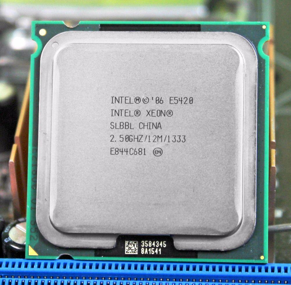 Intel xeon prozessor E5420 LGA 775 scoket 771 zu 775 2,5 GHz/12 Mt/1333 Mhz/CPU gleich arbeitet auf 775 motherboard mit adapter