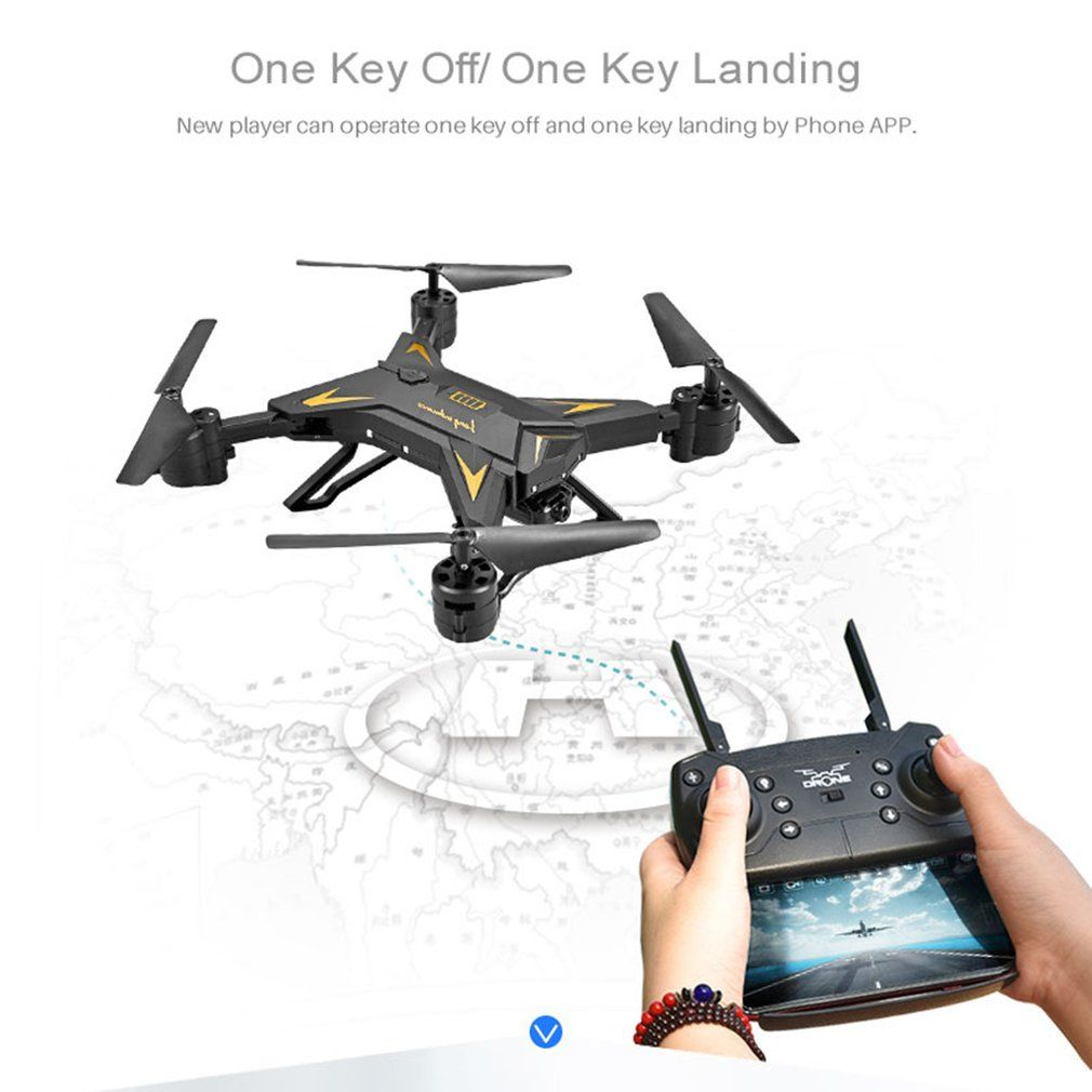 OCDAY KY601S RC Remote Control 4 Channel Foldable Arm RC Drone Long Lasting Helicopter Quadcopter with 1080P HD Camera Aircraft