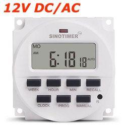 GRAND ÉCRAN 1.598 pouce LCD Numérique Minuterie 12 V DC 7 Jours Programmable Temps Commutateur avec ul Relais à l'intérieur