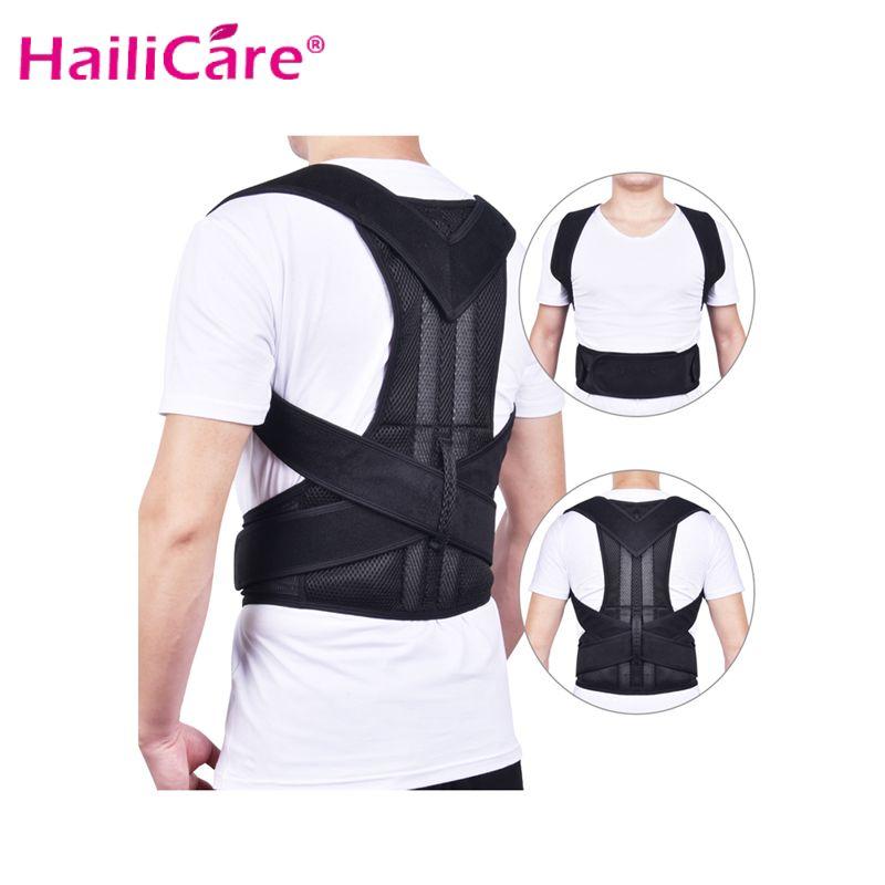 Adjustable Back Brace Posture Corrector Back Support Shoulder Belt Lumbar Spine Support Belt Posture Correction For Adult Unisex