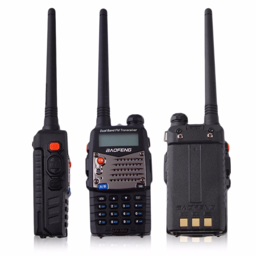 2017 Professional Hand-held Transceiver FM Radio Receiver Walkie-talkie Interphone Scanner Dual Band EU Plug Dual-Standby