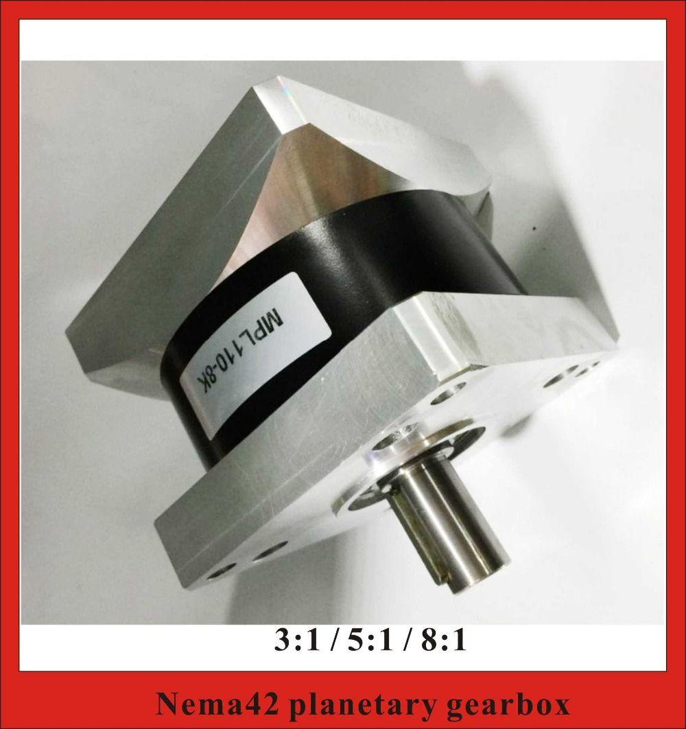 Übersetzungsverhältnis 3:1 5:1 8:1 NEMA42 Planetengetriebe für NEMA 42 Getriebeschrittmotor 230N. m (31944oz-in) Nennlast