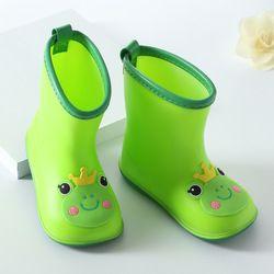 2018 nueva moda de los niños clásicos zapatos de goma PVC niños de dibujos animados Bebé Zapatos de los niños zapatos de agua Botas de lluvia impermeables