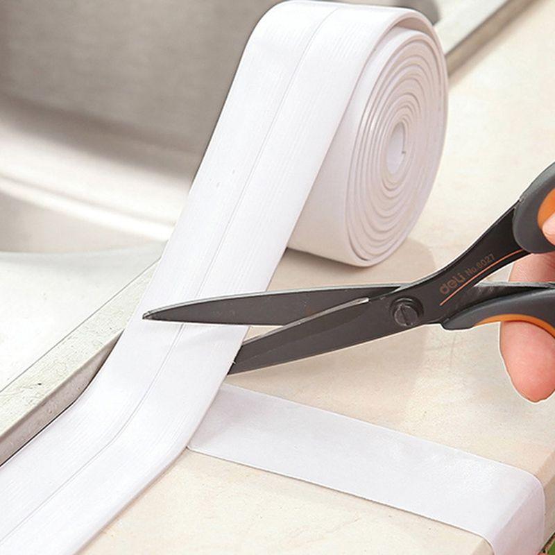 Decorative Caulk Strip Self-Adhesive Sealing Tape Anti-Mildew Waterproof Edge Protector For Bath Shower Floor Kitchen Stove Sink
