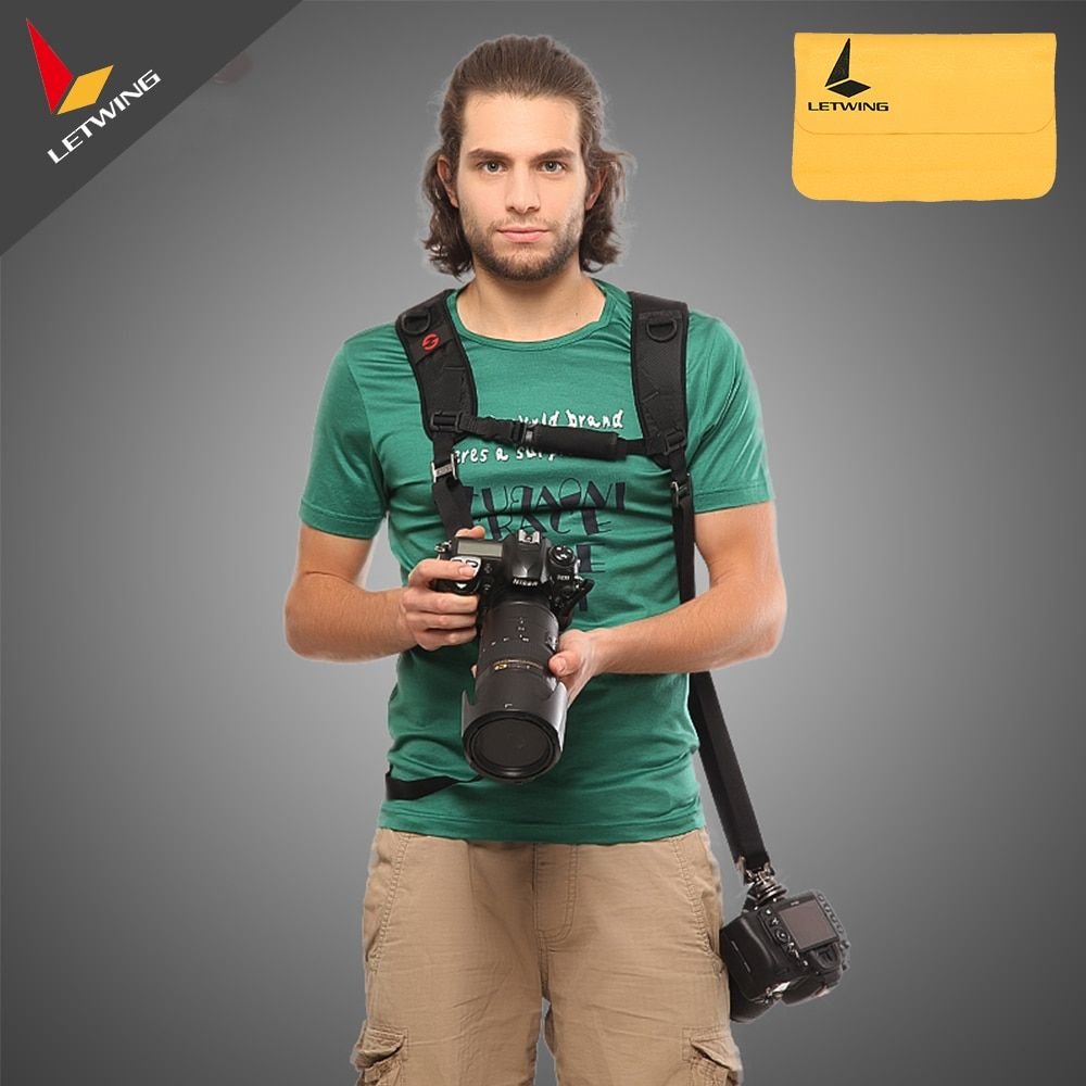 GGS FS-6 Professional FOTOSPEED Quick Release Shoulder Double Strap Camera Belt Sling with 1/4