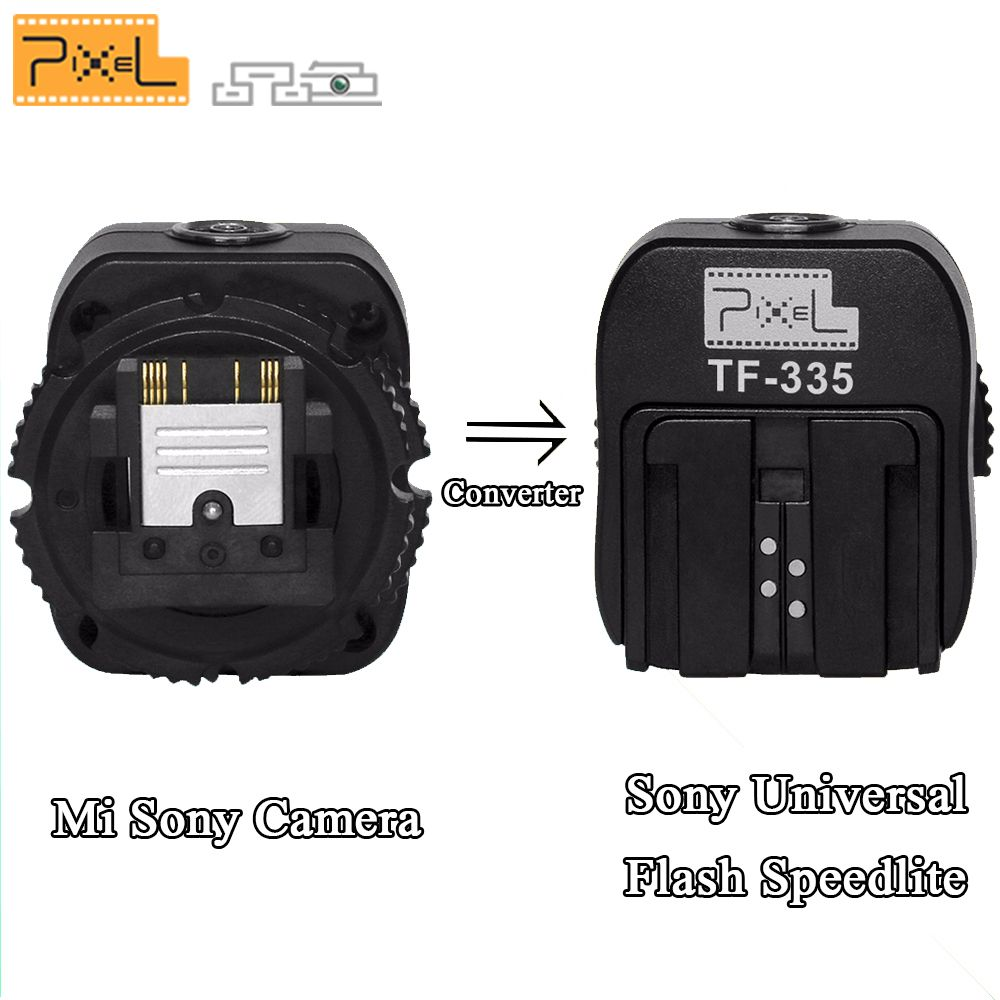 Pixel TF-335 Hot Shoe Adaptateur Pour Sony A7 A7 II A7S A7R A3000 A6000 A5000 NEX-7 NEX-6 NEX-5R NEX-3 HX50 pour Sony Flash Universel