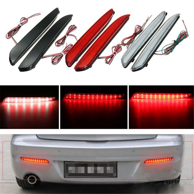 2Pcs 24 LED Rear Bumper Reflector Tail Brake Stop Running Turning Light For Mazda 3 2010-2013