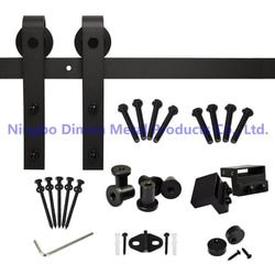 Free shipping Dimon America style hot sell cheap wooden sliding barn door hardware DM-SDU 7201 without sliding track